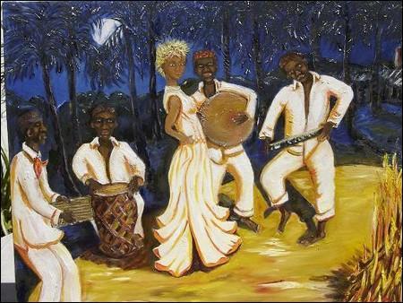 Quel est le nom de la musique inventée par les esclaves qui est actuellement encore chantée et dansée ?