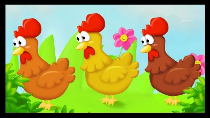 Trois poules vont aux champs. Où marche la première ?