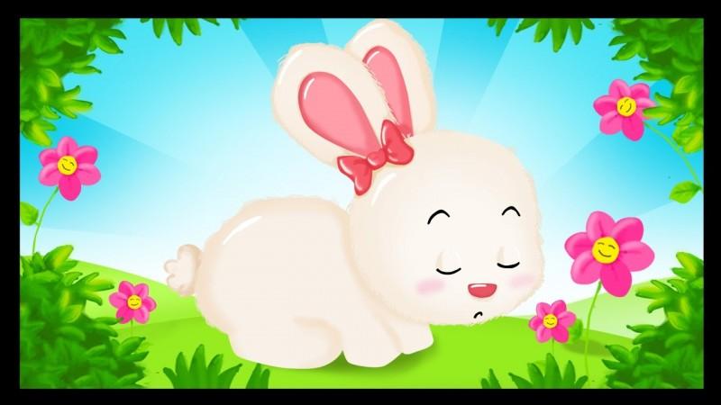 Ton petit lapin a bien du chagrin et il ne saute plus dans son jardin. Que lui dis-tu ?
