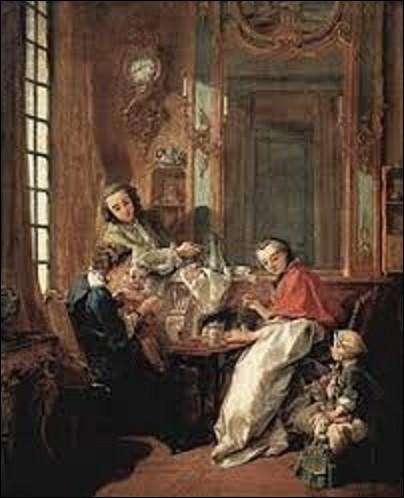 Peinture : Conservé au musée du Louvre, ''Le Déjeuner'' est un tableau réalisé en 1739 par un peintre rococo. Des trois artistes cités ci-dessous, lequel a exécuté cette toile ?
