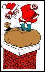 Comment le Père Noël pénètre-t-il dans la maison ?
