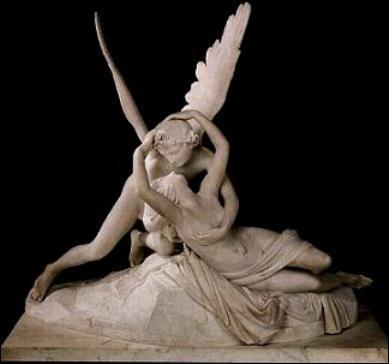 Quel est le nom de l'artiste qui a fait : 'Psyché ranimée par le baiser de l'Amour' ?