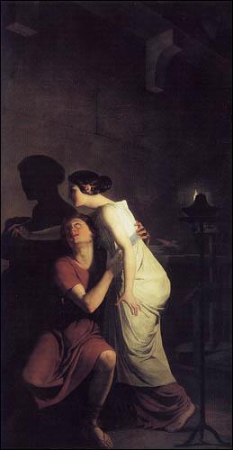 Qui a peint ce tableau 'L'invention du dessin' (1791) ?
