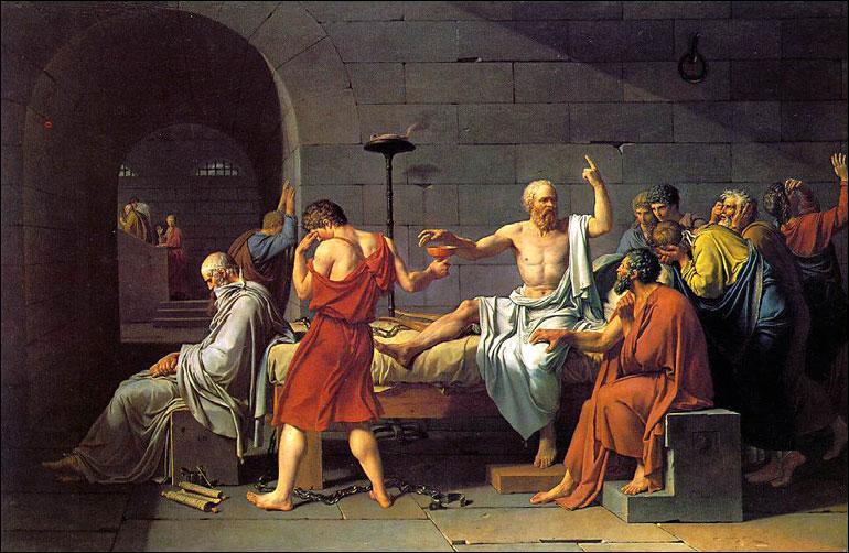 Voici 'La mort de Socrate'. Qui a peint ce tableau ?
