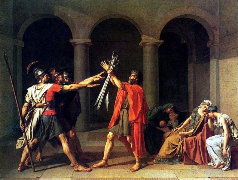 C'est David qui a peint 'Le serment des Horaces'.