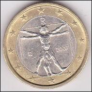 Quelle pièce de monnaie italienne est décorée d'une œuvre de Léonard de Vinci ?