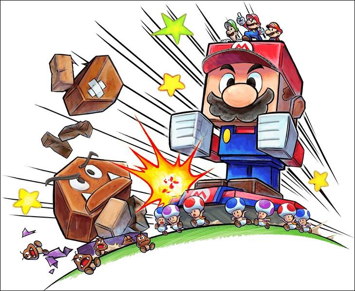 Dans « Mario et Luigi Paper Jam Bros », qui fabrique les Titancartons du côté des gentils ?