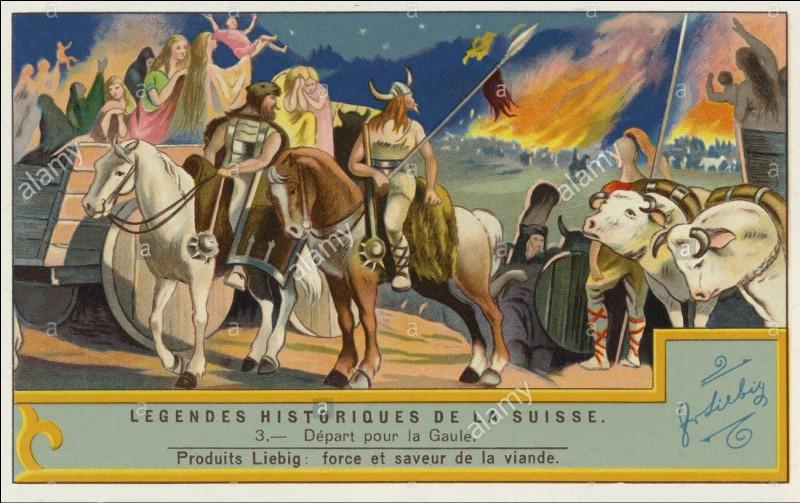 Je suis un peuple celte, accompagné de quatre autres, ayant tenté de migrer vers l'ouest de la Gaule transalpine en 58 av. J.-C., mais, repoussés par Jules César, ils formeront ce qui deviendra la Suisse d'aujourd'hui.- Qui Suisse-je ?