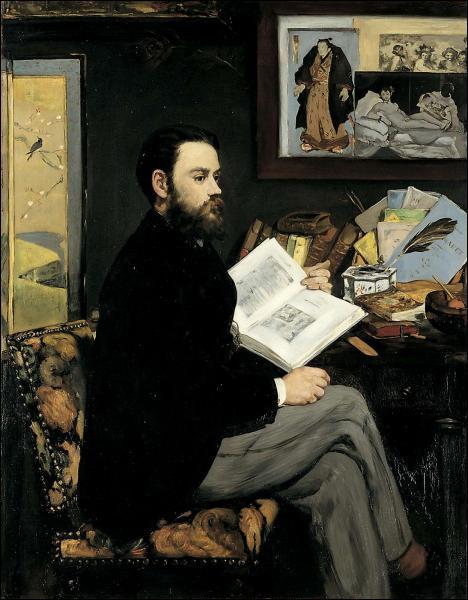 Quel écrivain admirait les oeuvres de Manet ?