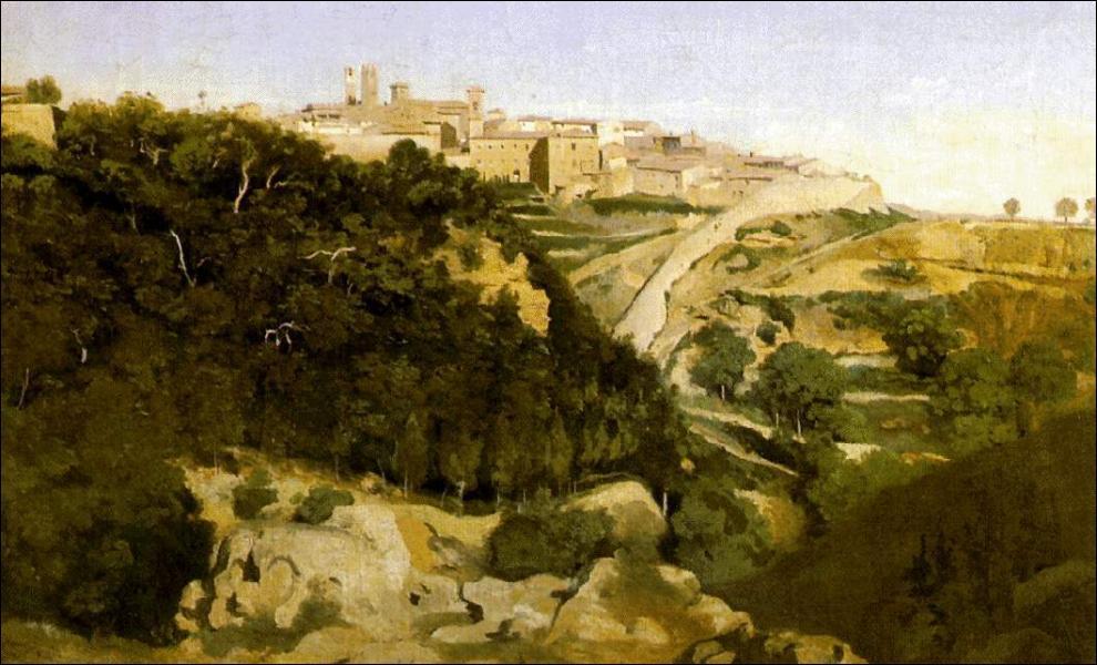 Camille Corot est resté célèbre pour ...