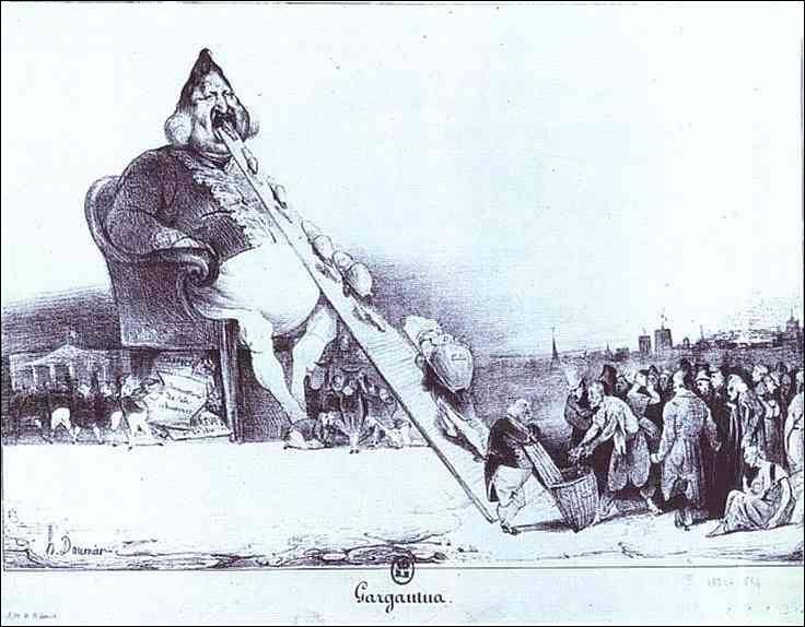 Quel peintre a passé quelques mois en prison à cause d'une caricature du roi ?