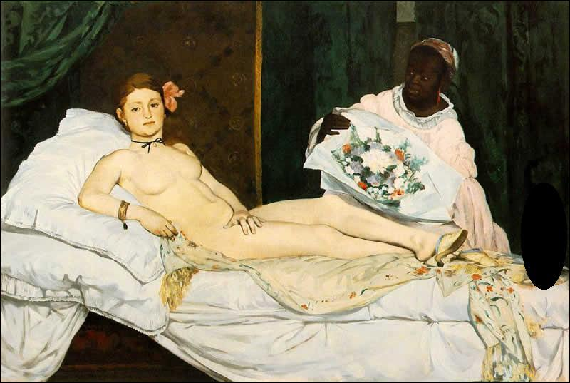 Quel animal voit-on sur la toile de Manet : 'Olympia' ?