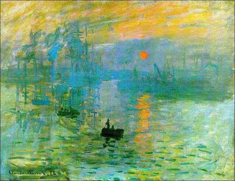 Qui a peint ce tableau, 'Impression Soleil Levant' ?