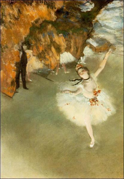 Dans les années 1880, alors que sa vue commence à décliner, Degas privilégie le pastel.