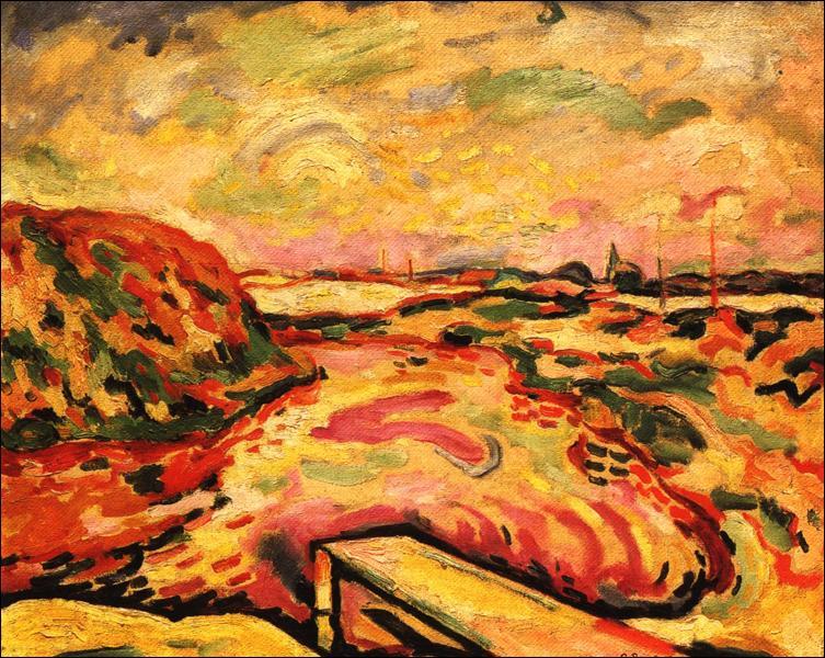 Quel artiste, qui a peint cette oeuvre, fut aussi un peintre fauve avant de s'orienter vers le cubisme ?