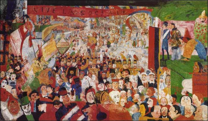 Quel est le titre de cette toile de James Ensor ?