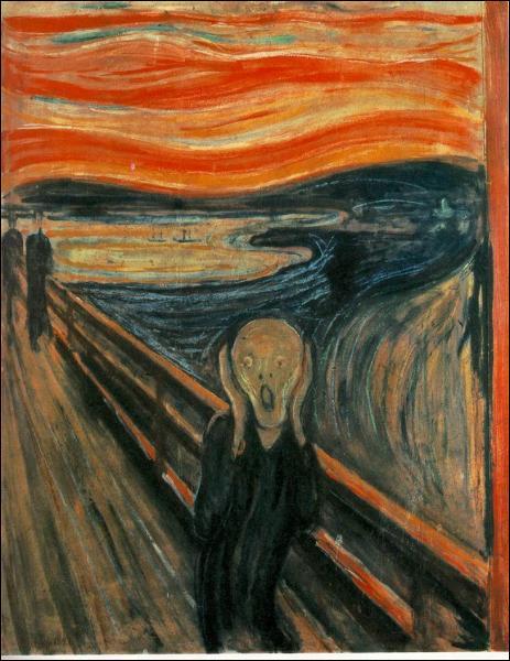 Qui a peint cette oeuvre mondialement connue, intitulée 'Le Cri' ?