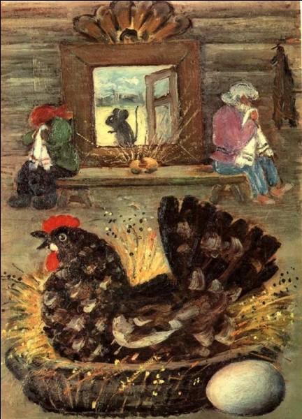 La poule rouge n'existe plus, c'est une espèce éteinte :
