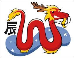 Parmi les douze animaux qui apparaissent dans l'astrologie chinoise, on y trouve le dragon.