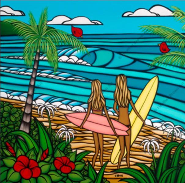Quelle station balnéaire du département des Landes est particulièrement réputée pour ses spots de surf, et qui doit son nom à son lac marin ?