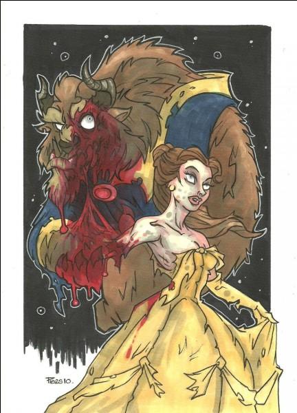 Sous cette apparence, la Bête a vraiment une allure de monstre accompagné de Belle. Comment la Bête finit-elle par redevenir le prince Adam ?