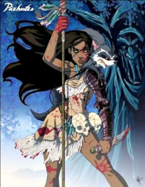 Pocahontas semble plus que déterminée à protéger ses terres amérindiennes. Contre qui les protège-t-elle dans le long-métrage Disney ?