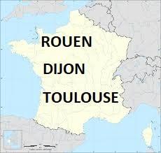 Rouen, Dijon ou Toulouse ?