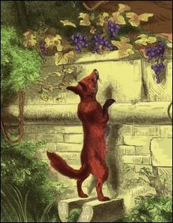 Que convoite le renard dans cette fable ?