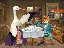 Avec qui dîne le renard dans cette fable ?