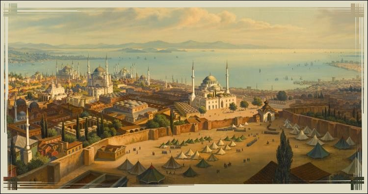 Après le partage de l'Empire romain, Constantinople devient la capitale de l'Empire byzantin. La ville devient alors un centre commercial mondial. Mais Constantinople s'affaiblit et en 1453, elle est assiégée et se renomme Istanbul. Qui est la cause du siège de Constantinople ?