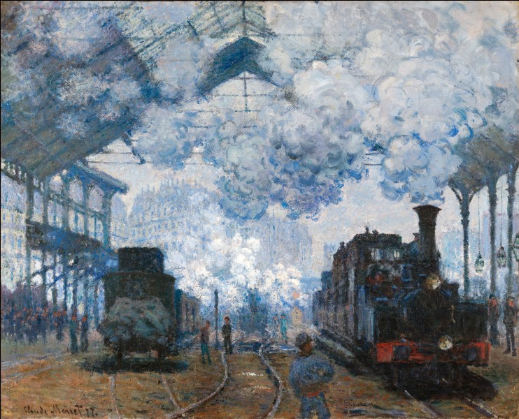 Combien a-t-il réalisé de toiles représentant cette gare ?