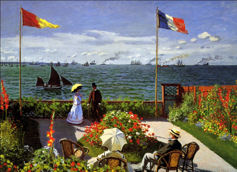 Où cette terrasse a-t-elle été représentée sur ce tableau ?