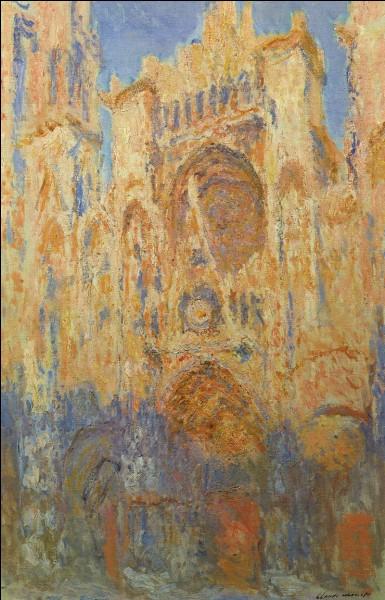Quelle cathédrale a--t-il représenté dans une série de toiles ?