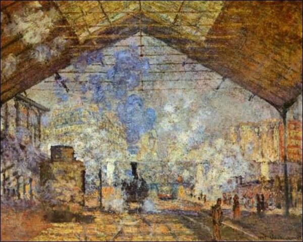 Monet a peint une série de tableaux représentant la gare :