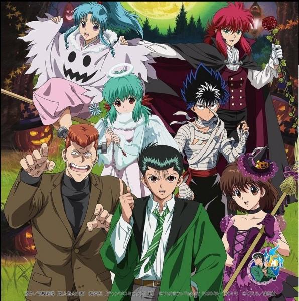 Cette fois-ci, ce sont les personnages de Yu Yu Hakusho qui se déguisent. Qui est en vampire ?