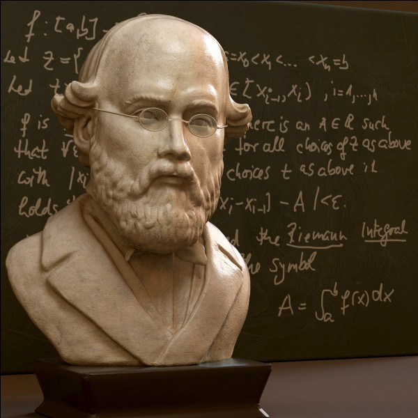 En quelle année grâce à Bernard Riemann, la géométrie non euclidienne est-elle apparue ?