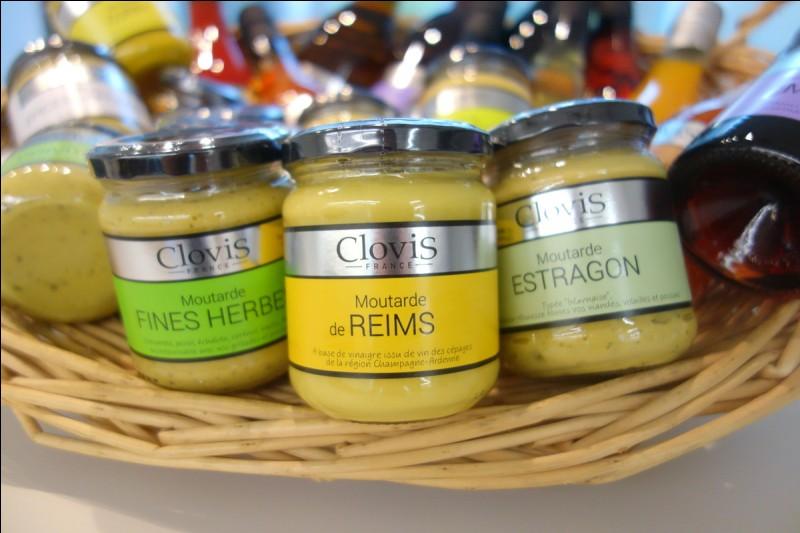 Avec quoi est fabriqué la moutarde et le vinaigre de Reims ?
