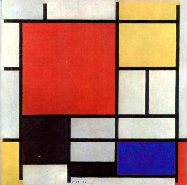 """""""Composition III en rouge, bleu et jaune"""" est une huile sur toile signée Piet Mondrian."""
