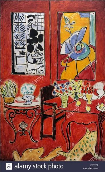 """""""Grand intérieur rouge"""" est un tableau signé Henri Matisse."""