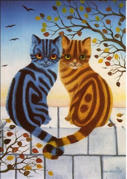 Comment sont les chats dans le titre du livre d'Anny Duperey ?