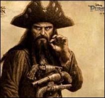 Ce pirate anglais a pillé de nombreux navires dans la mer des Caraïbes. Il portait une grosse barbe, un sabre d'abordage et six pistolets. C'est bien entendu...