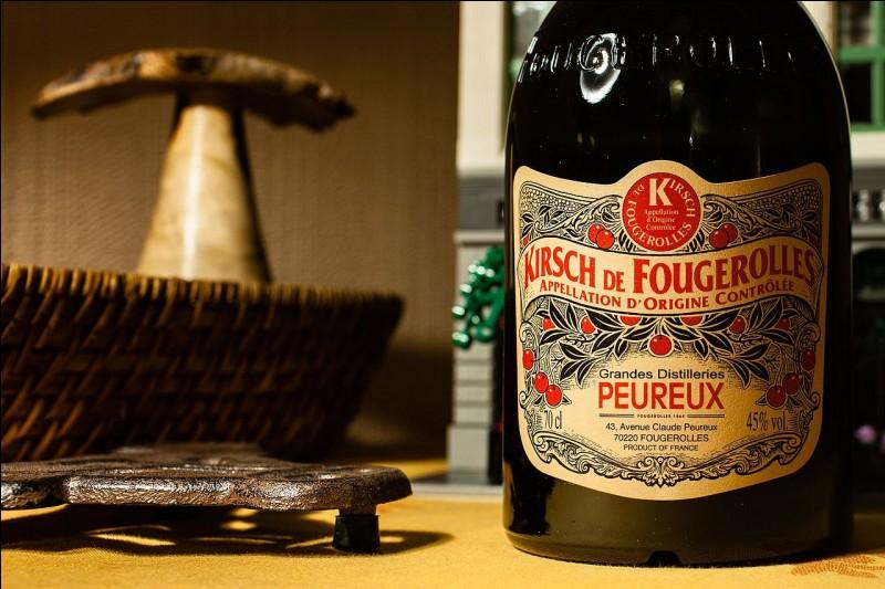 Quelle appellation détient le kirsch de Fougerolles ?