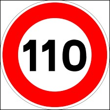 En France, sur quelle route la vitesse est-elle limité à 110 km/h ?