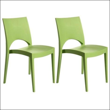Combien y a-t-il de chaises vertes sur cette image ?