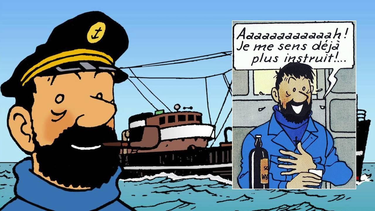 Le capitaine Haddock dans les aventures de Tintin et Milou