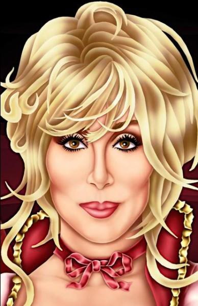 Reconnaissez-vous cette artiste, spécialiste des perruques et des tenues déjantées, ici en blonde ?