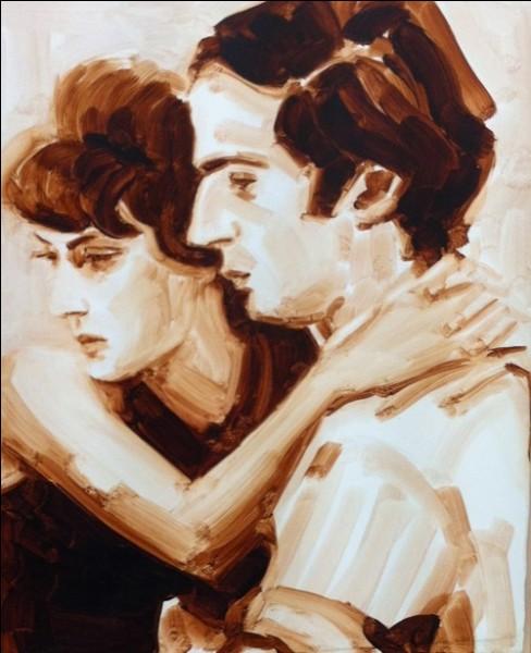 Elisabeth Peyton a peint ici deux grandes célébrités françaises, durant le tournage d'un film. Saurez-vous les reconnaître ?