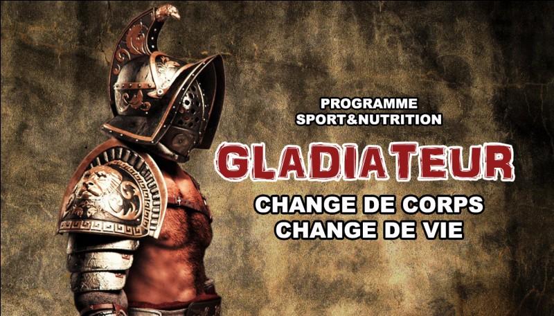 """""""Gladiator"""" est le titre d'un film tourné par Ridley Scott."""