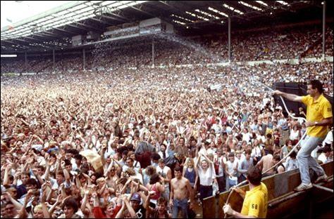 En quelle année a eu lieu le Live Aid à Wembley ?