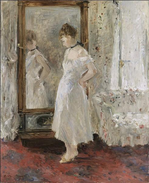À quel peintre impressionniste appartient cette toile représentant un miroir ?